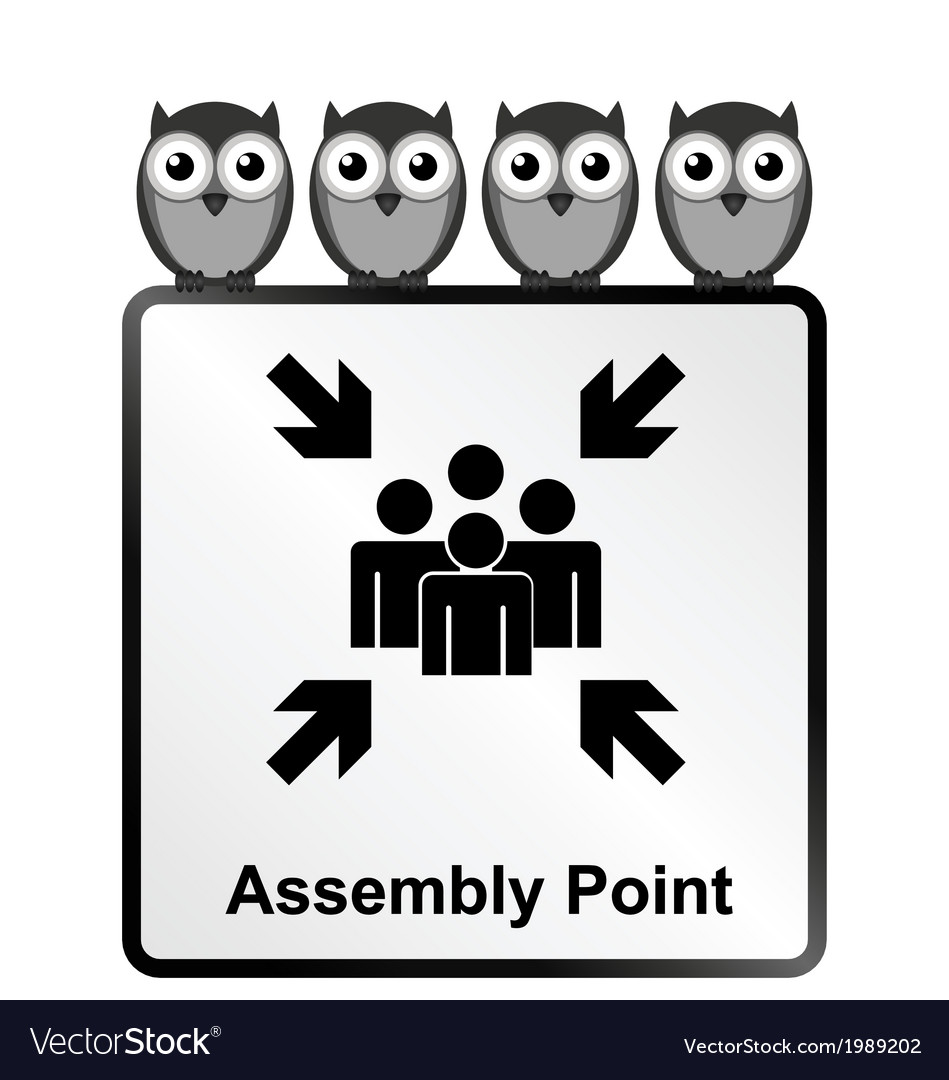 Assembly point sign vector | Price: 1 Credit (USD $1)