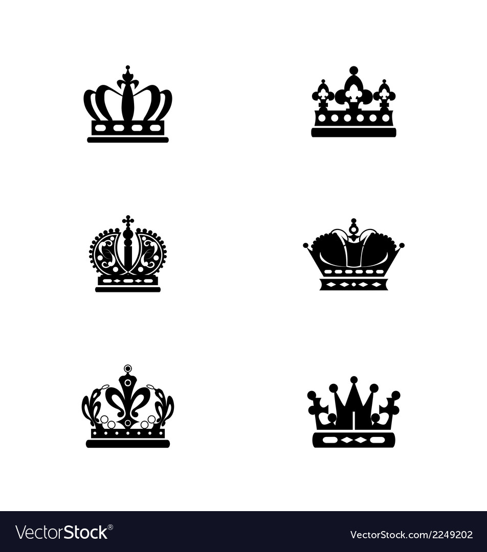 Black crowns vector | Price: 1 Credit (USD $1)