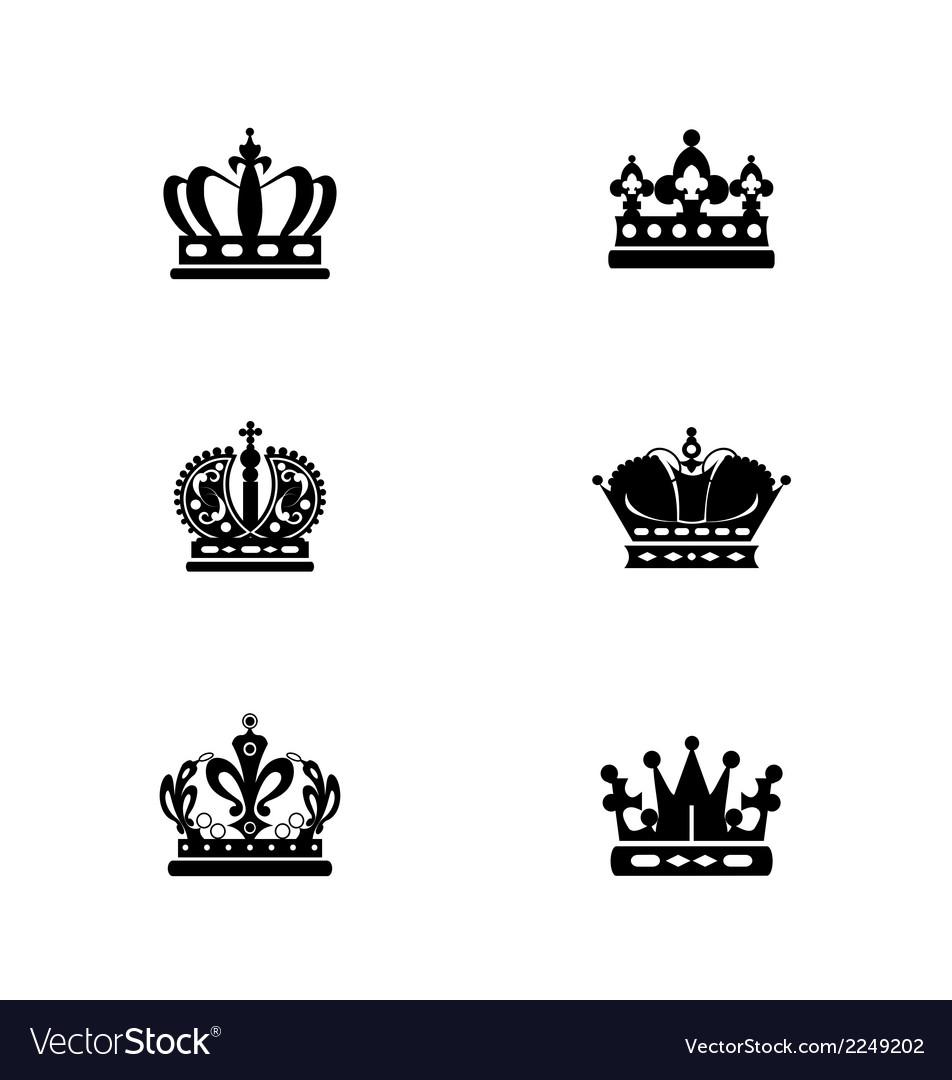 Black crowns vector | Price: 1 Credit (USD $1)