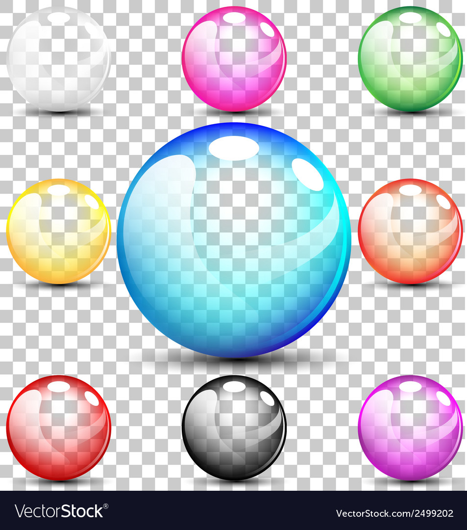 Colorful translucent bubbles vector | Price: 1 Credit (USD $1)