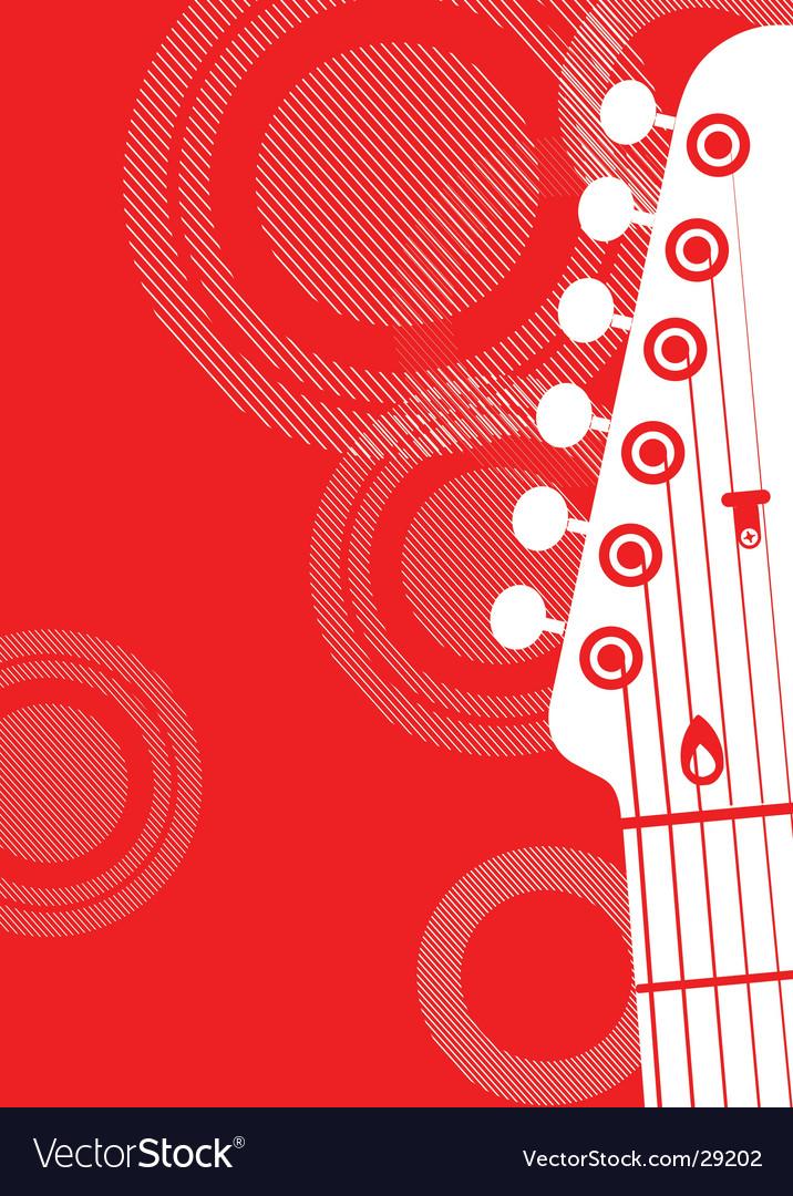 Guitar head vector | Price: 1 Credit (USD $1)