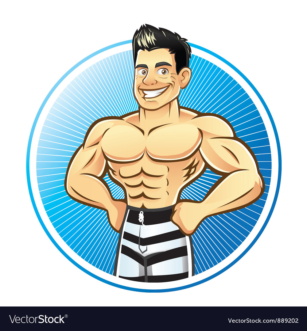 Muscle man vector | Price: 5 Credit (USD $5)