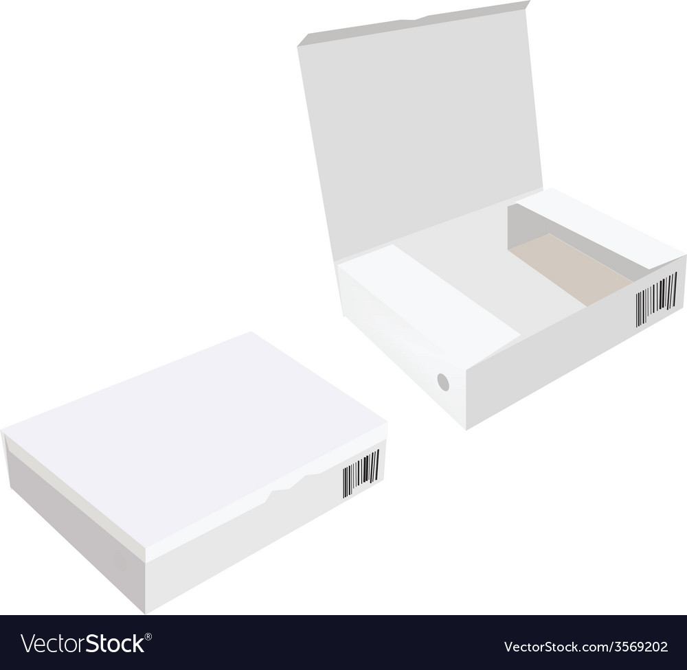 Opened and closed white boxes vector | Price: 1 Credit (USD $1)