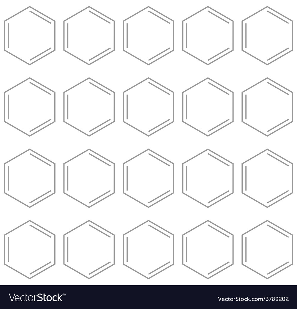 Seamless chemical benzene background vector | Price: 1 Credit (USD $1)