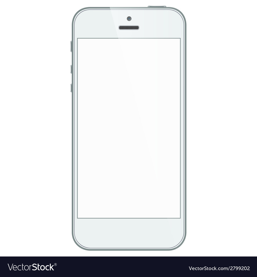 White business iphone 5s isolated on white vector | Price: 1 Credit (USD $1)