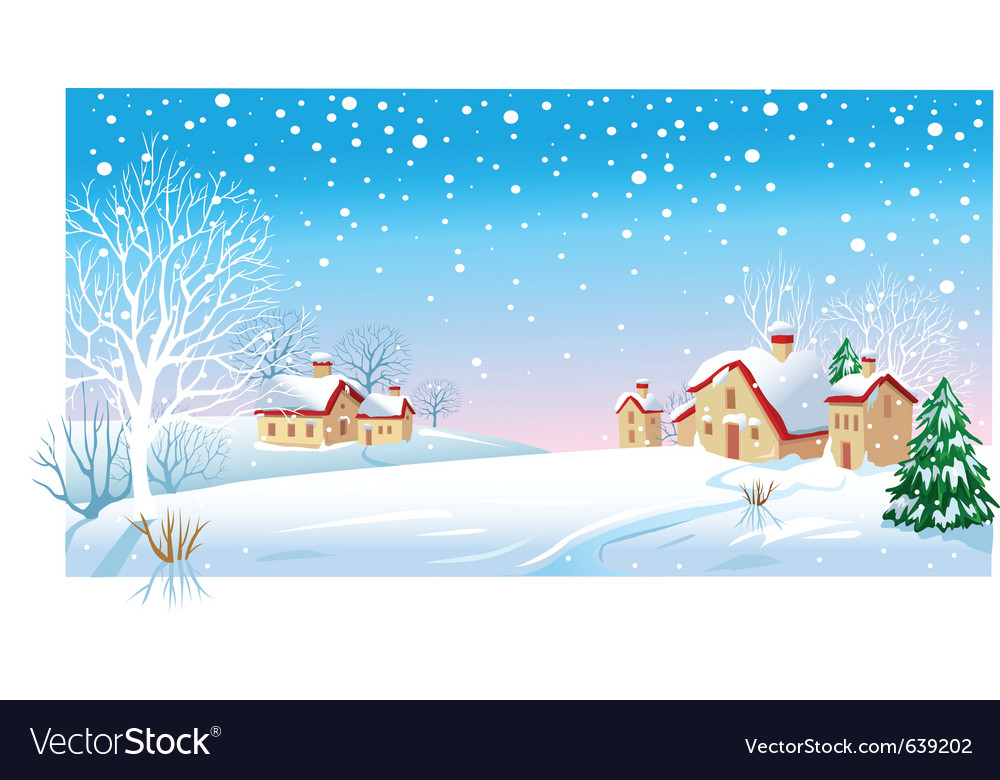 Winter morning vector | Price: 1 Credit (USD $1)