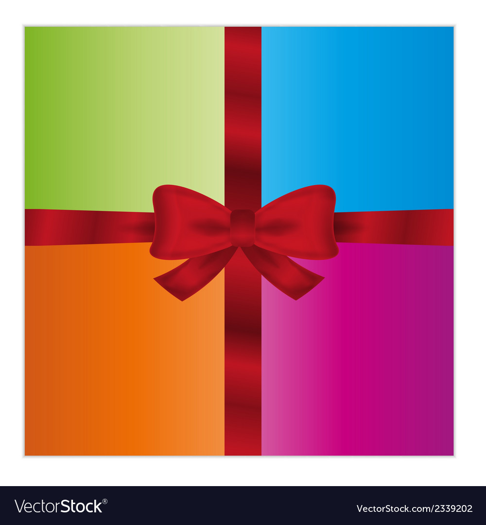 Wrapped gift or gift card vector | Price: 1 Credit (USD $1)