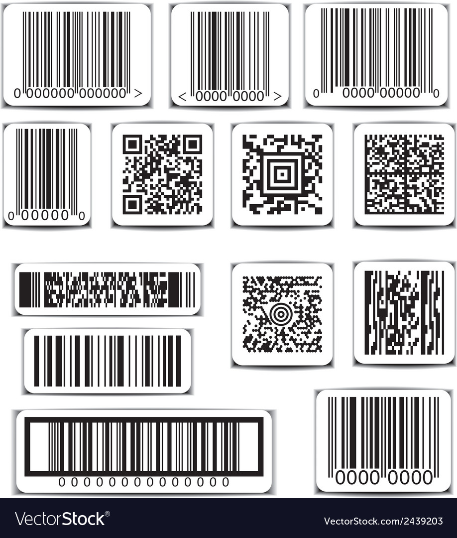 Barcode label set vector | Price: 1 Credit (USD $1)