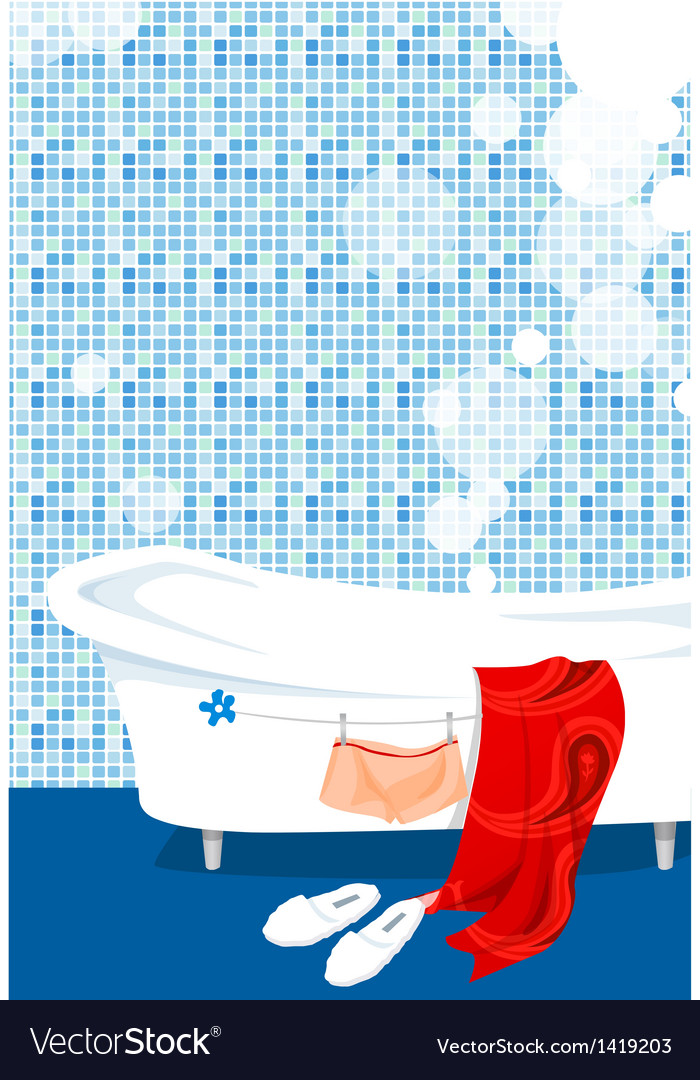 Bathtub bathroom vector | Price: 1 Credit (USD $1)