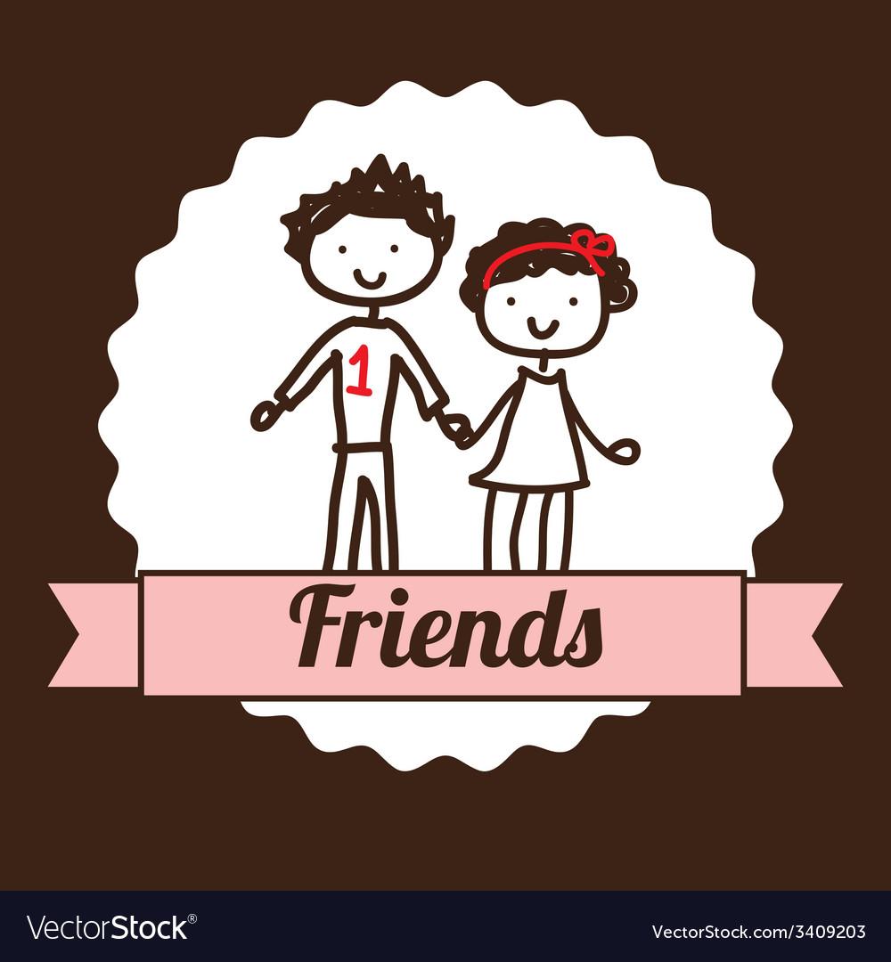Best friends design vector | Price: 1 Credit (USD $1)