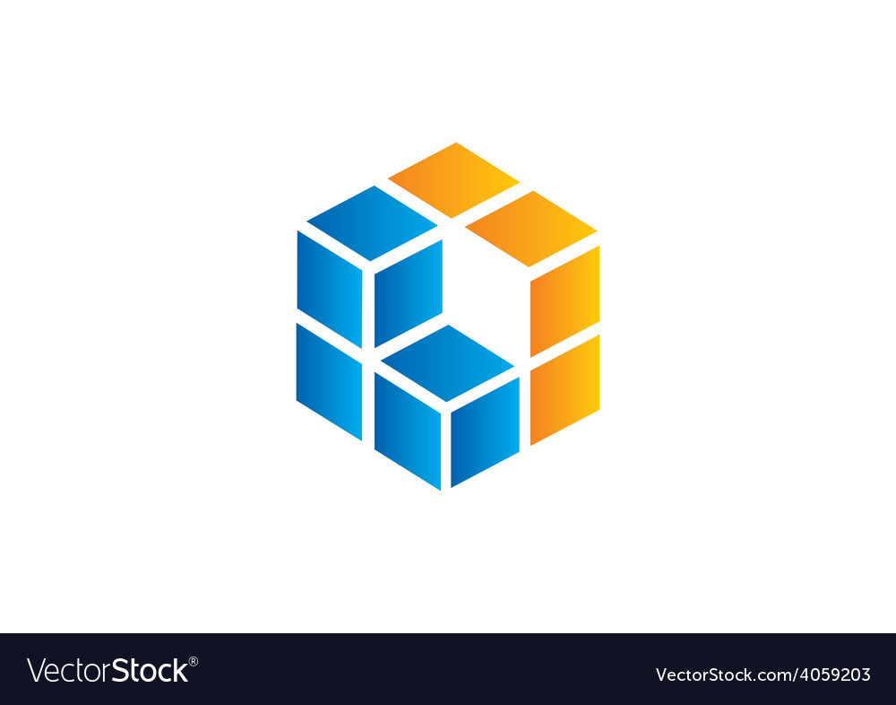 Cube square 3d business logo vector | Price: 1 Credit (USD $1)