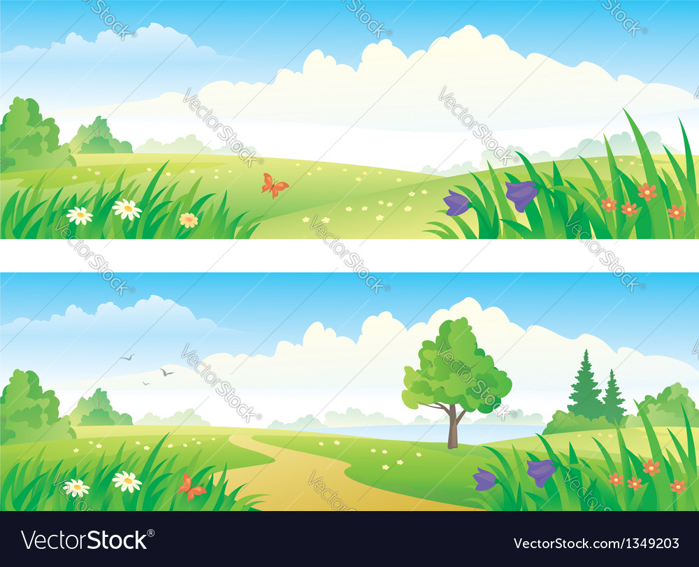 Landscape banners vector | Price: 3 Credit (USD $3)