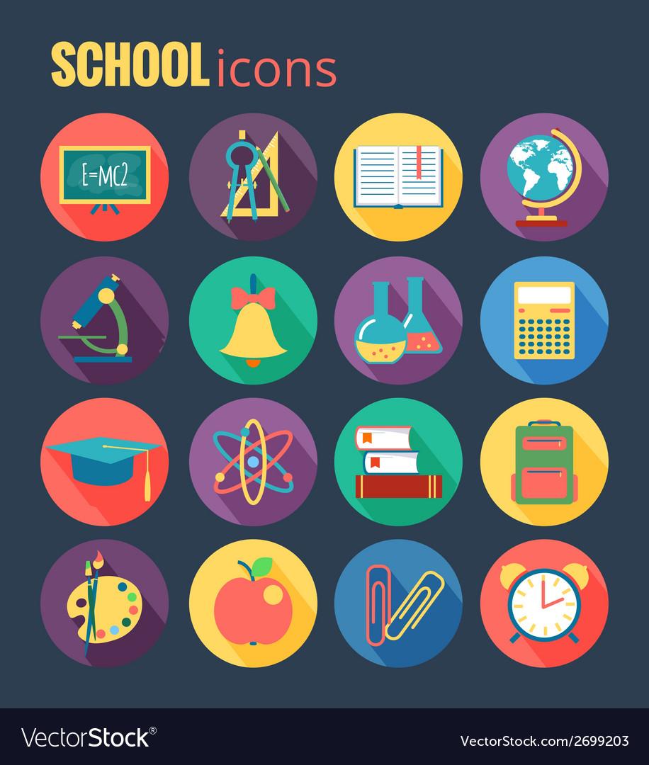 School icon set  eps10 vector | Price: 1 Credit (USD $1)