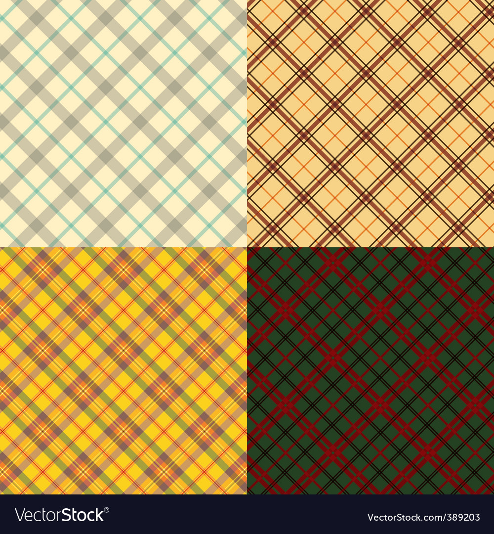 Scottish tartan set vector | Price: 1 Credit (USD $1)