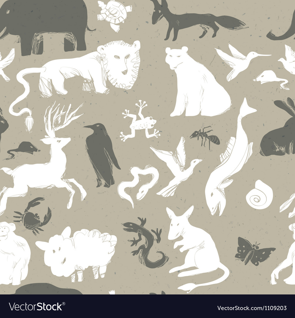 Seamless pattern animals vector | Price: 1 Credit (USD $1)