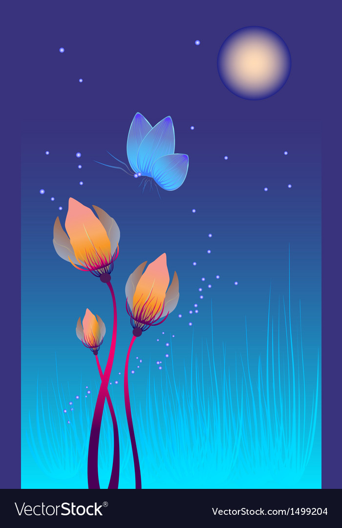 Abstract decorative flowers vector | Price: 1 Credit (USD $1)