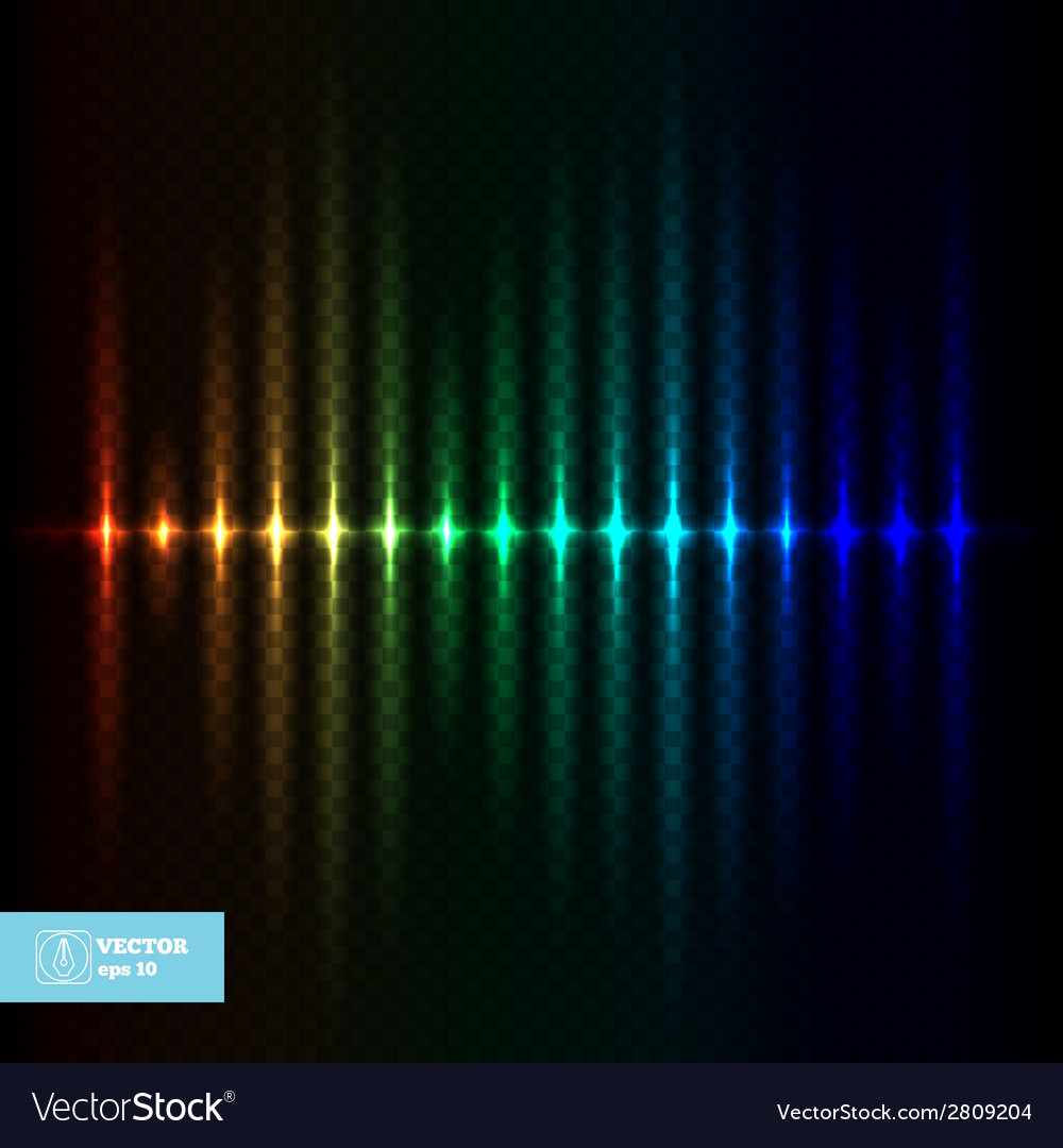 Abstract glow equalizer vector | Price: 1 Credit (USD $1)