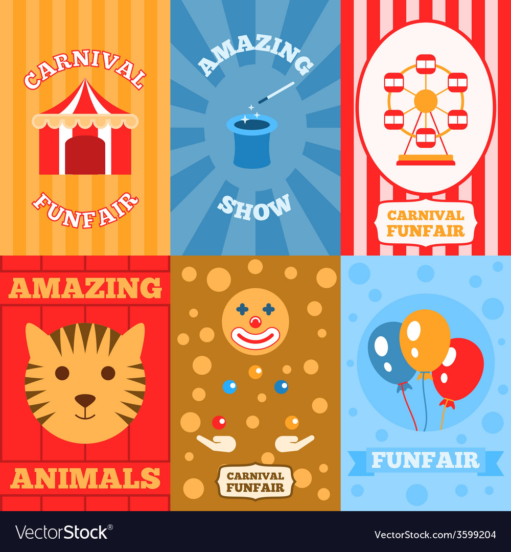 Amusement park poster vector | Price: 1 Credit (USD $1)