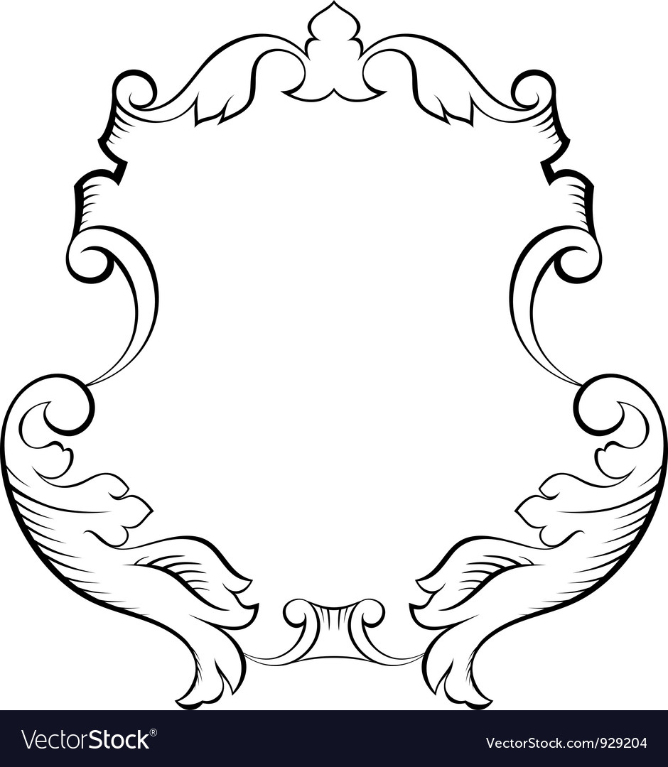 Baroque architectural ornamental decorative frame vector | Price: 1 Credit (USD $1)