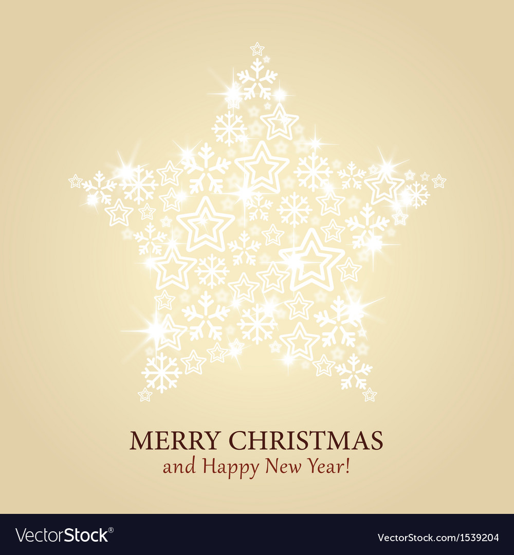 Christmas card - gold background with spark vector | Price: 1 Credit (USD $1)