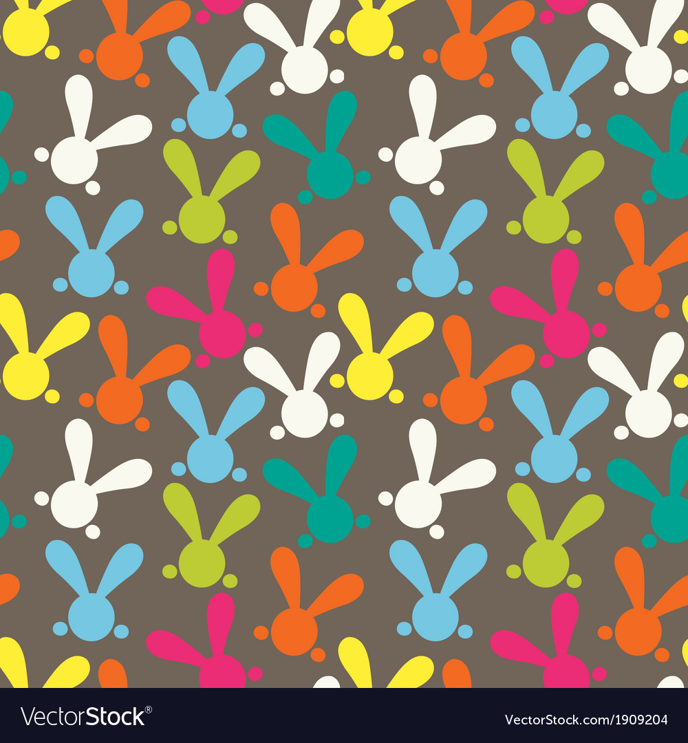 Colorful seamless patern with easter bunny vector   Price: 1 Credit (USD $1)