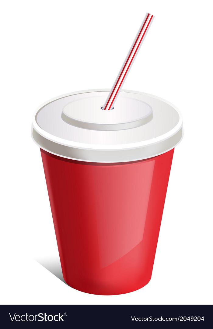 Cup soda vector | Price: 1 Credit (USD $1)