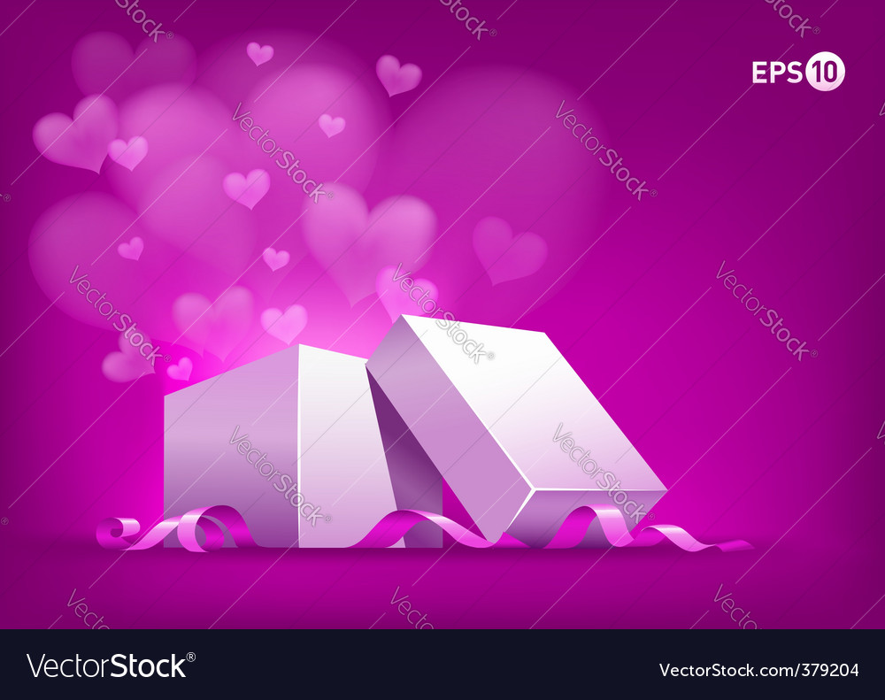 Flying red heart vector | Price: 3 Credit (USD $3)