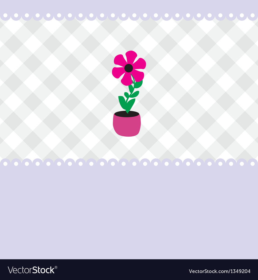Growing plant flower in pot vector | Price: 1 Credit (USD $1)