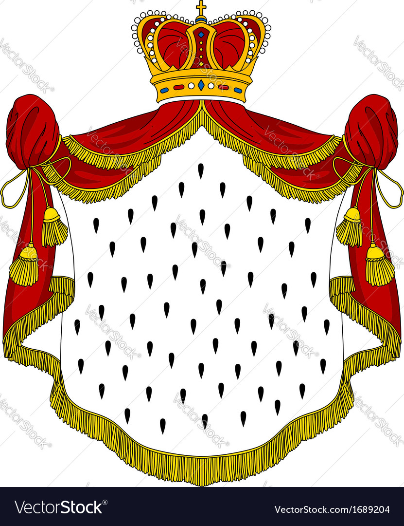 Medieval royal mantle vector | Price: 1 Credit (USD $1)