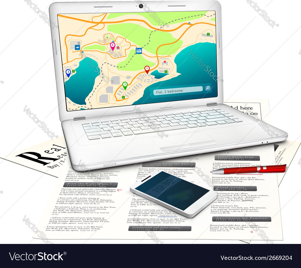 Real estate searching concept vector | Price: 1 Credit (USD $1)