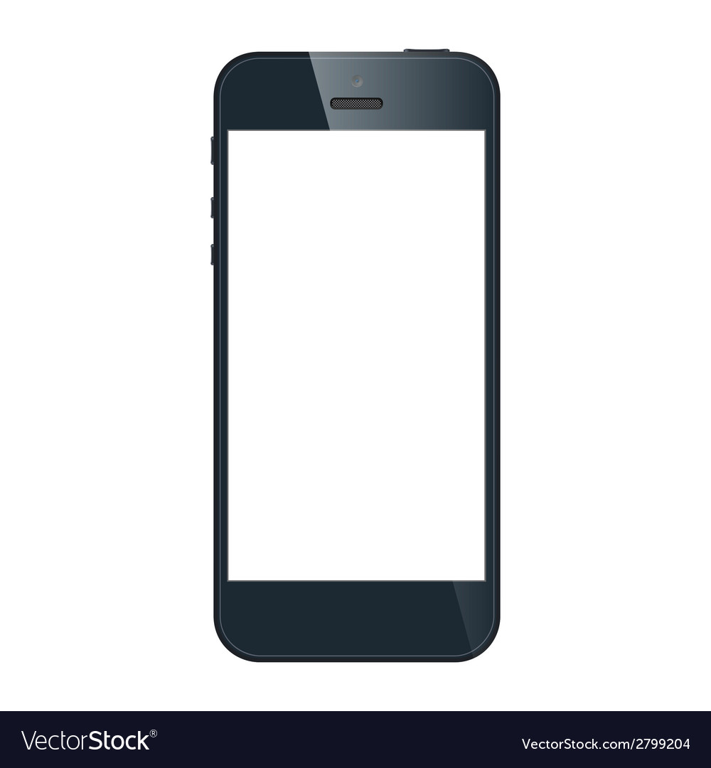 Realistic black iphone 5s with blank screen vector | Price: 1 Credit (USD $1)