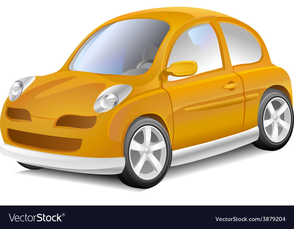 Small yellow car vector   Price: 1 Credit (USD $1)
