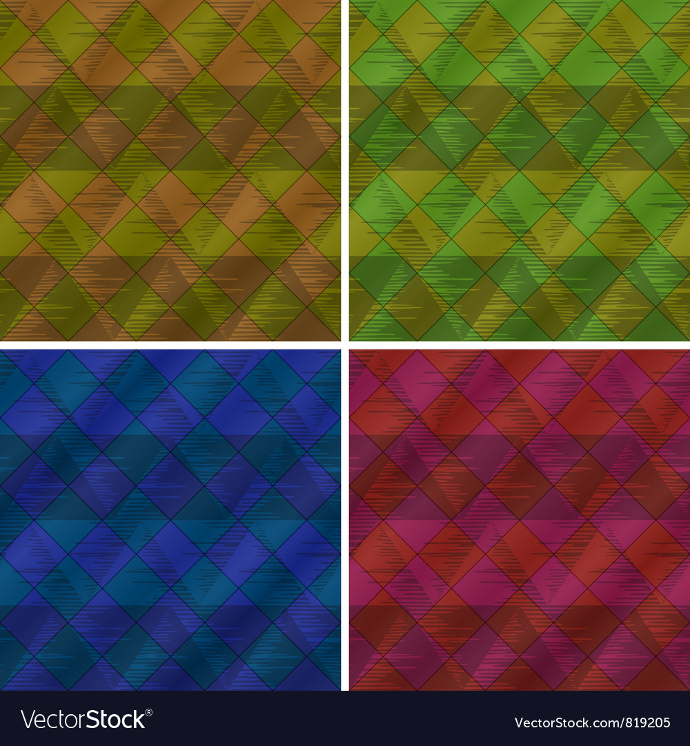 Abstract seamless plaid set vector   Price: 1 Credit (USD $1)