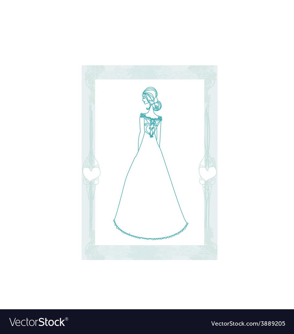 Beautiful bride - doodle vector | Price: 1 Credit (USD $1)