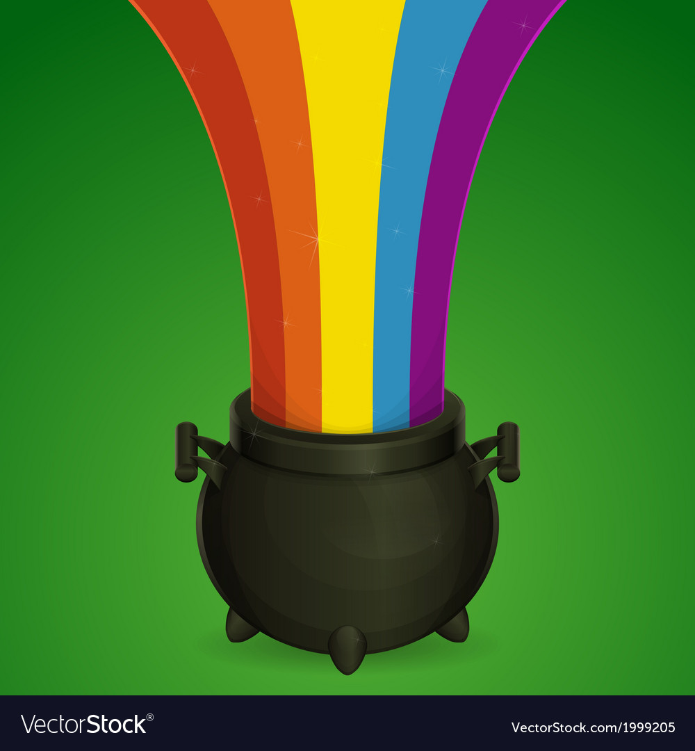 Bowler and a rainbow vector | Price: 1 Credit (USD $1)