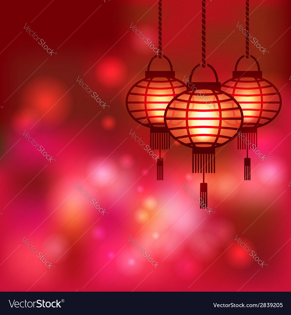 Chinese lantern blurred background vector | Price: 1 Credit (USD $1)