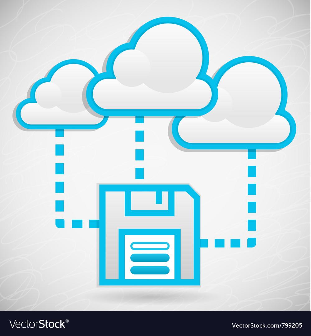 Cloud data storage vector | Price: 1 Credit (USD $1)