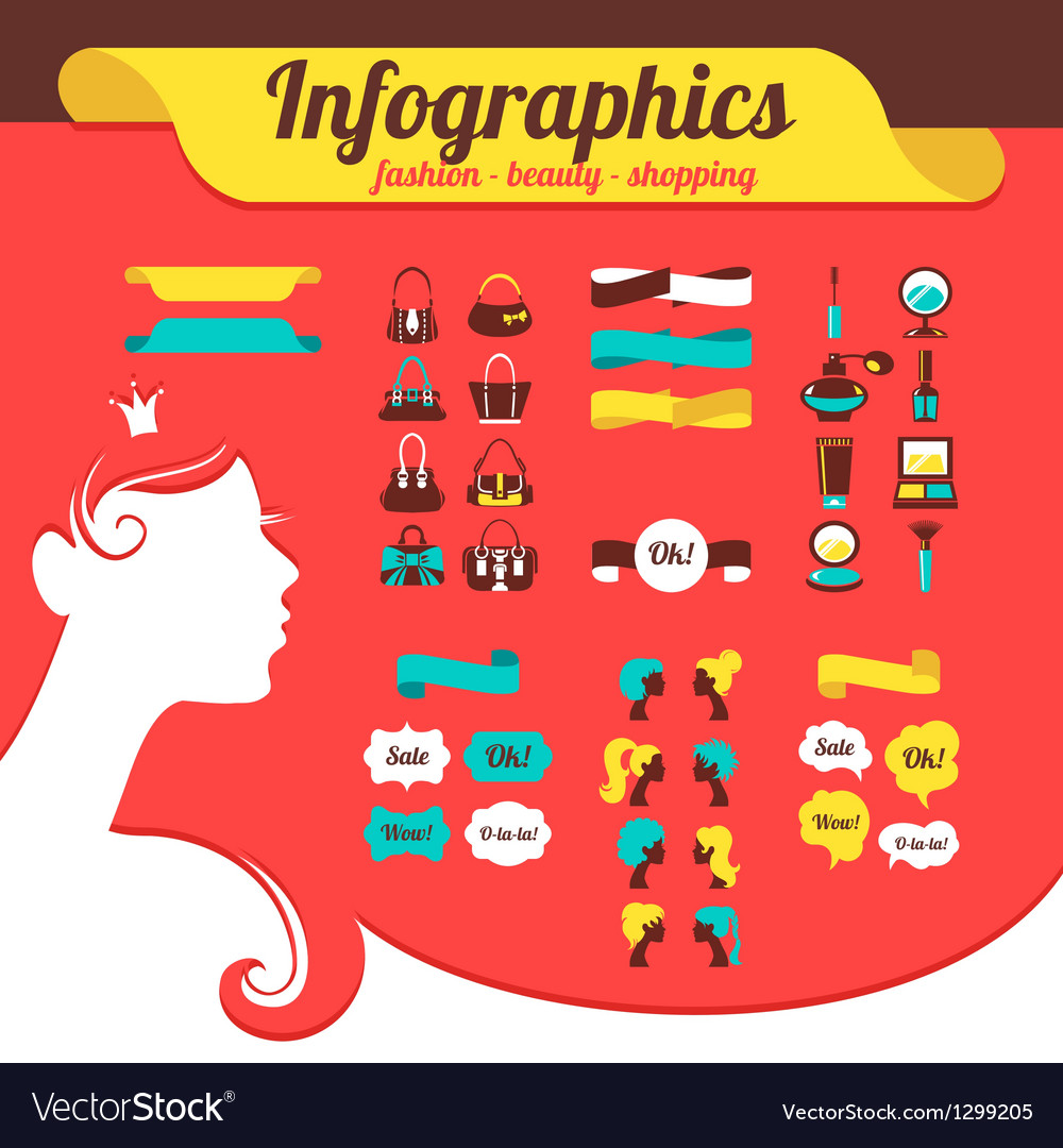 Fashion womens infographics vector | Price: 1 Credit (USD $1)
