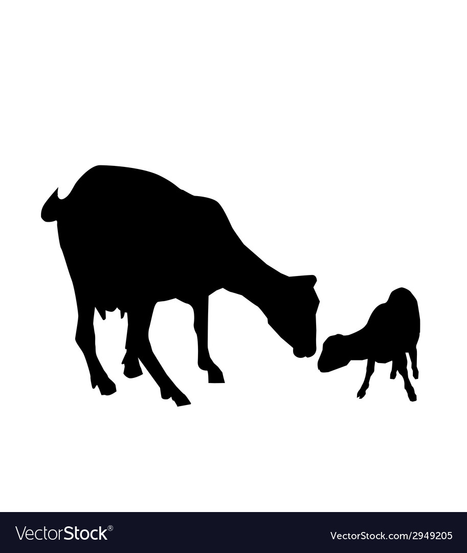 Goat and kid vector | Price: 1 Credit (USD $1)
