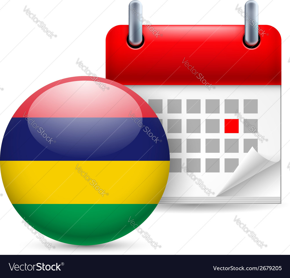 Icon of national day in mauritius vector | Price: 1 Credit (USD $1)
