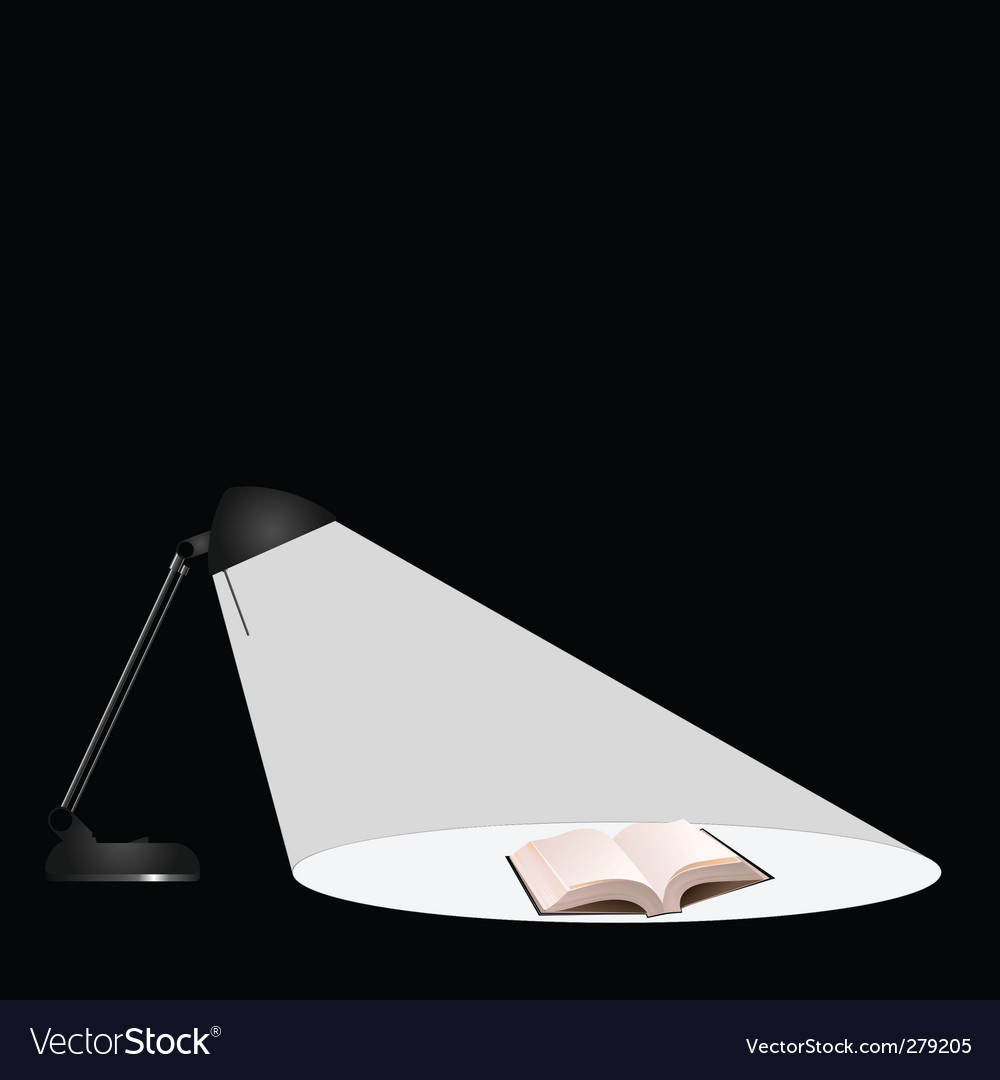 Lamp book vector | Price: 1 Credit (USD $1)