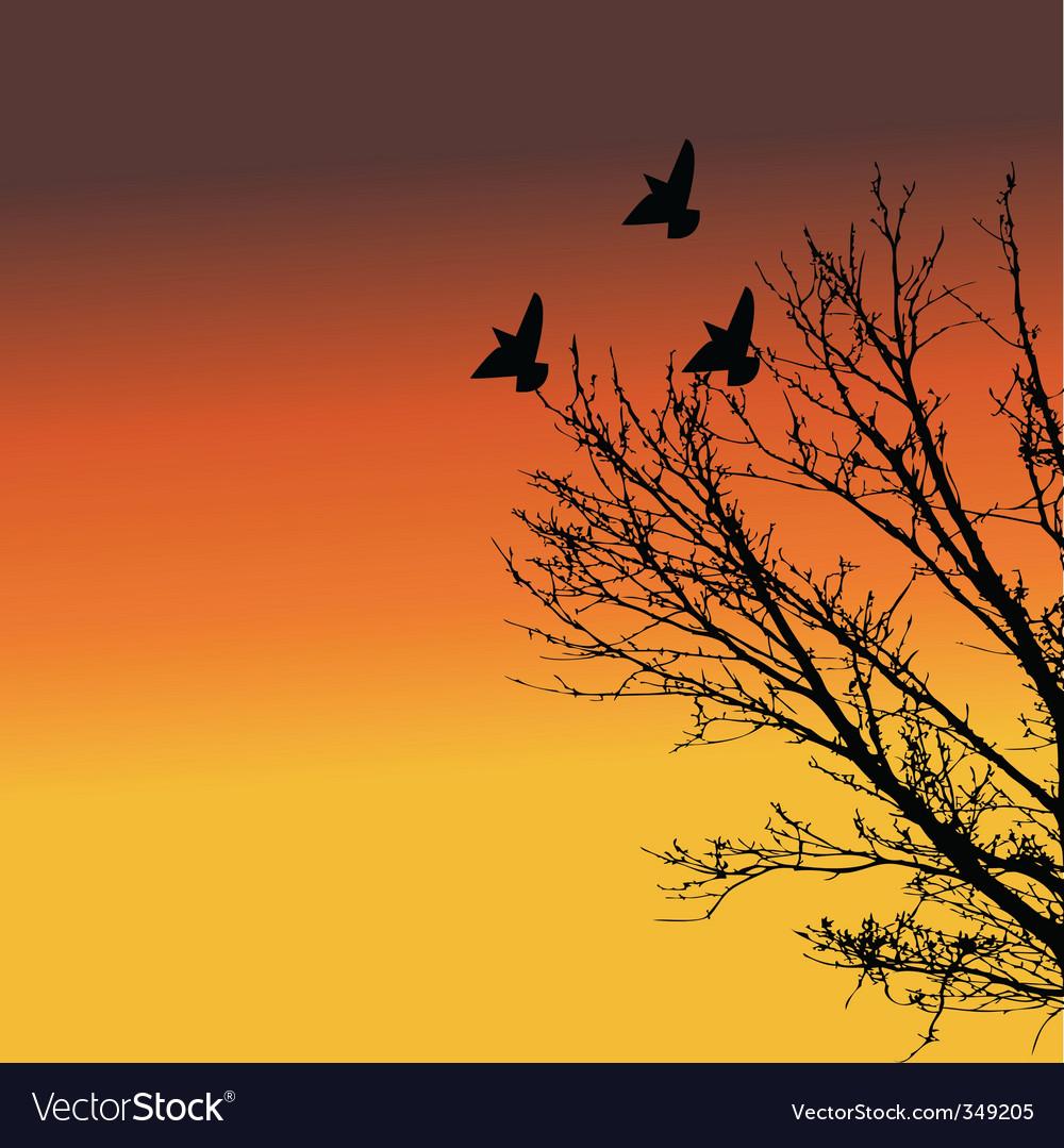Landscape at dusk vector | Price: 1 Credit (USD $1)