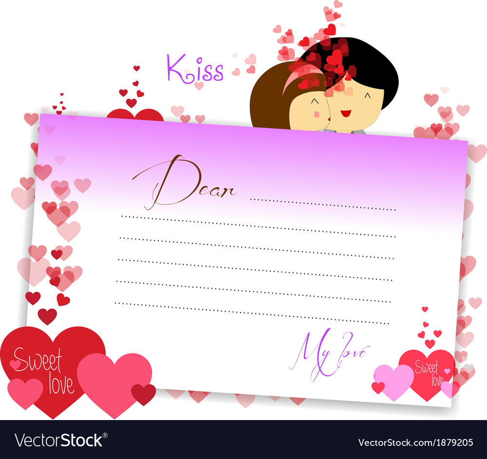 Letterhear for valentines purple vector | Price: 1 Credit (USD $1)