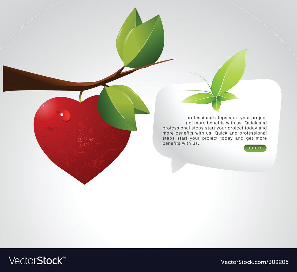 Love branch vector | Price: 1 Credit (USD $1)