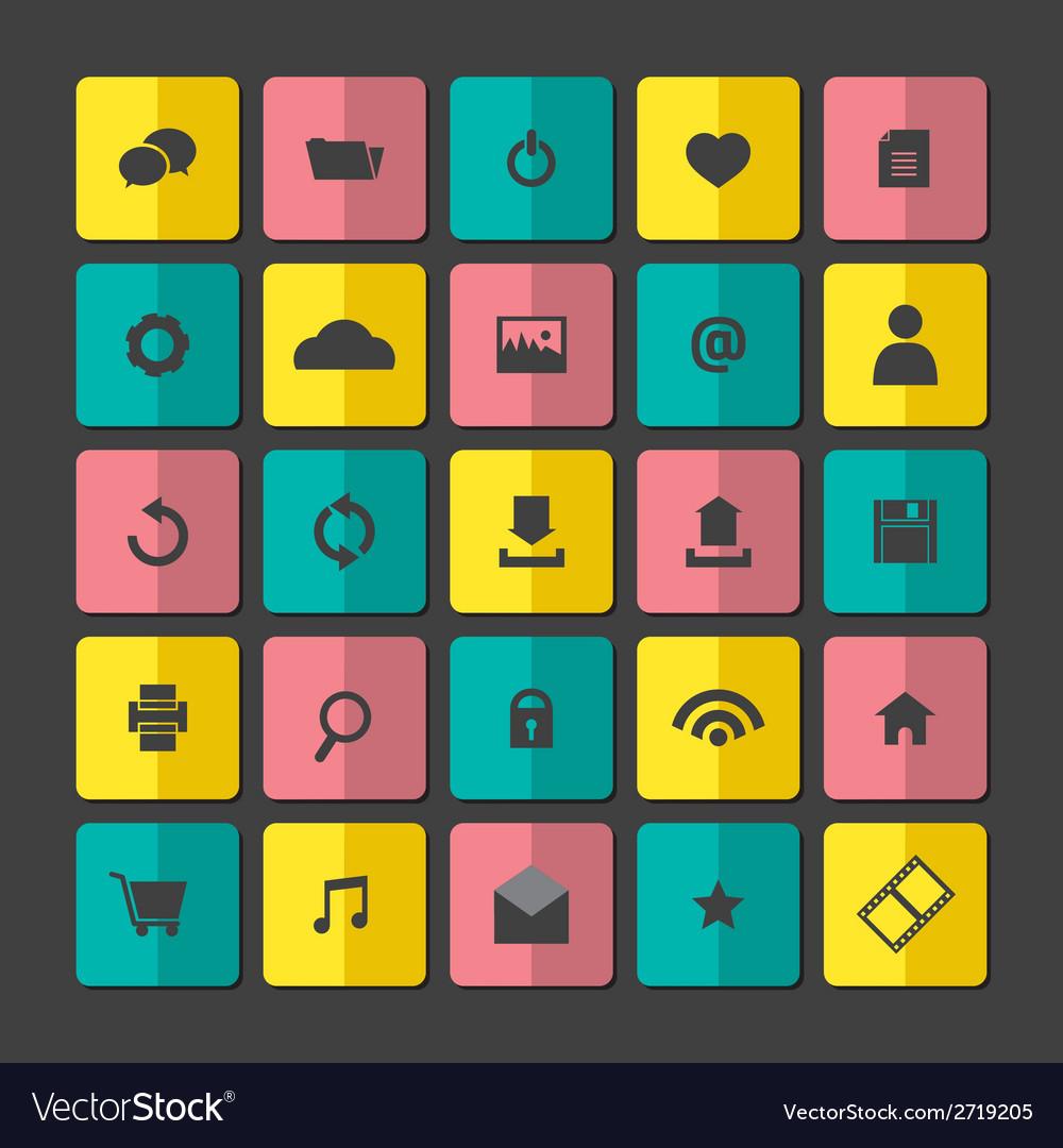 Modern website icons set vector | Price: 1 Credit (USD $1)