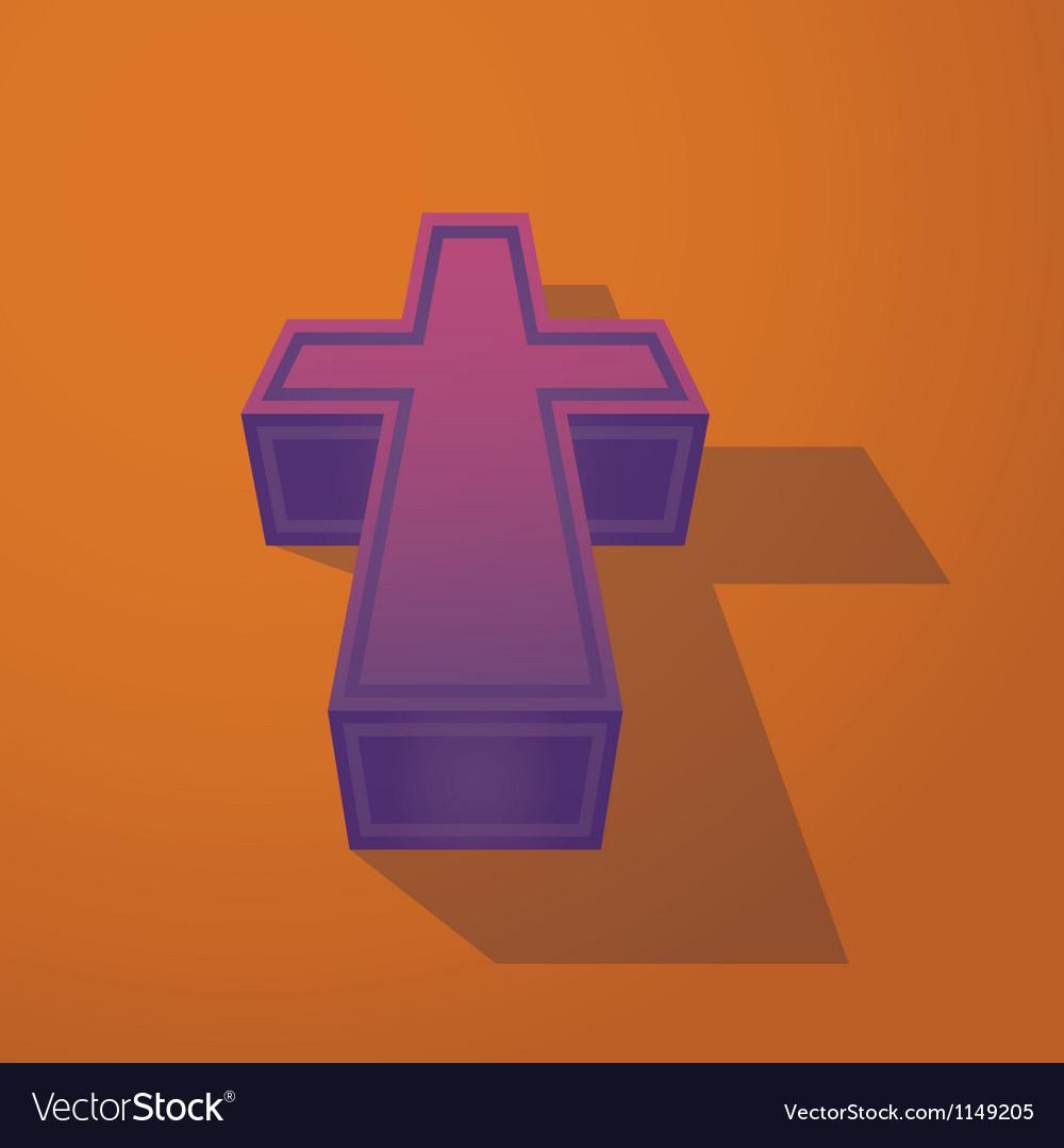 Religious cross vector | Price: 1 Credit (USD $1)