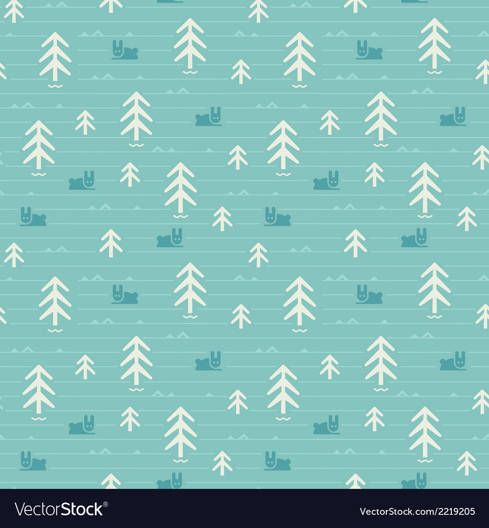 Seamless pattern of forest vector | Price: 1 Credit (USD $1)