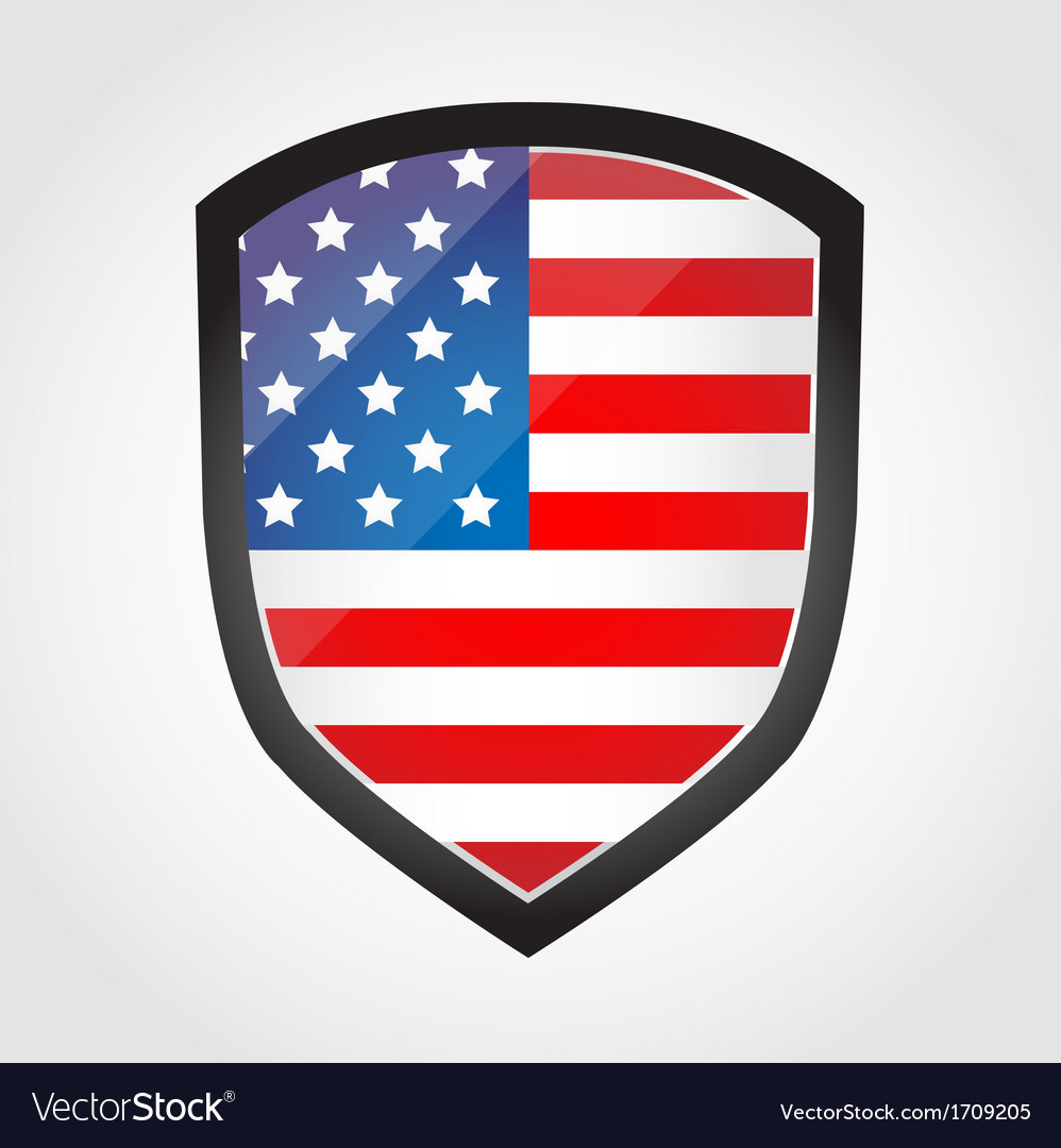 Shield with flag inside - united states - vector | Price: 1 Credit (USD $1)