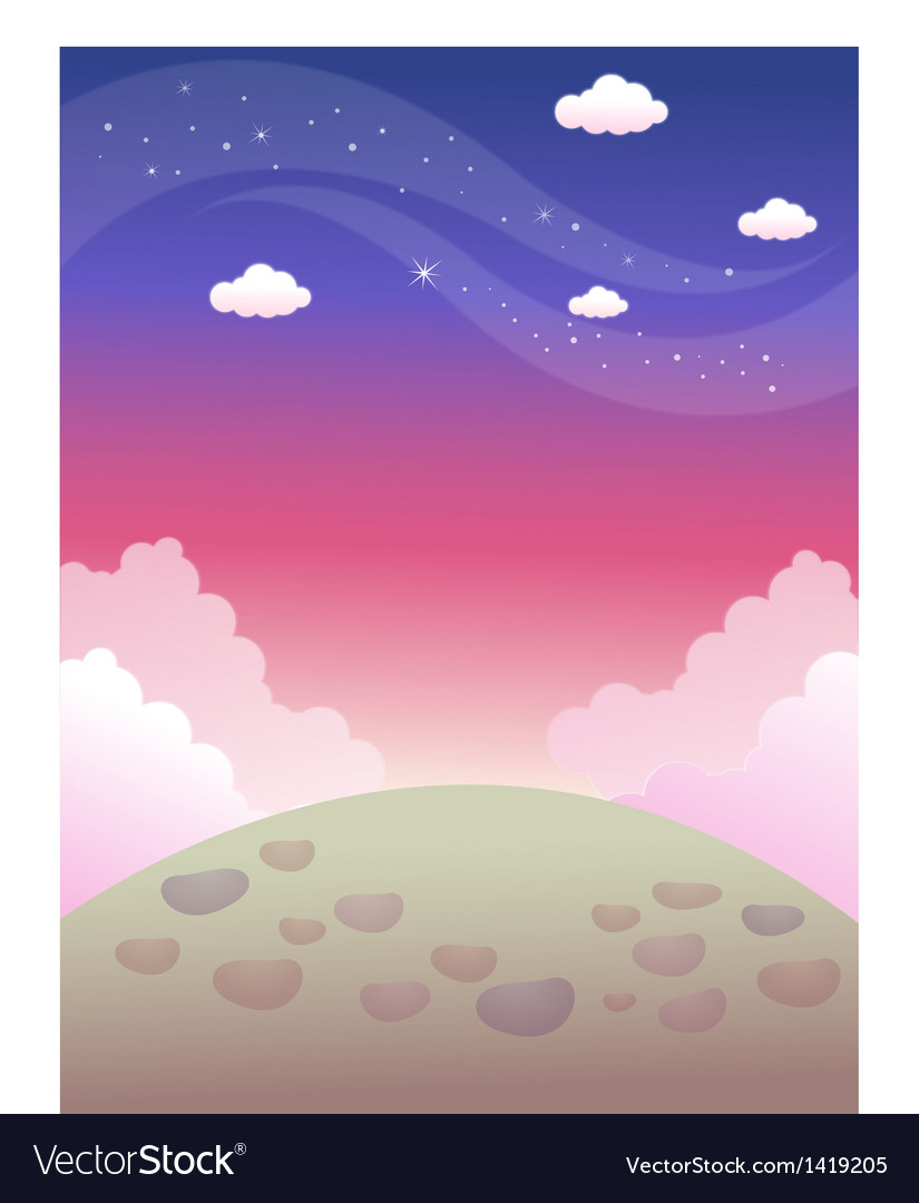 Surface colourful sky vector | Price: 1 Credit (USD $1)