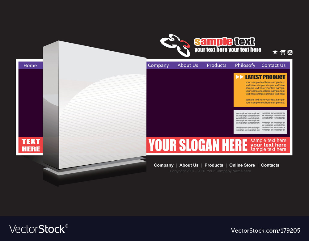Web site advertising template vector   Price: 3 Credit (USD $3)